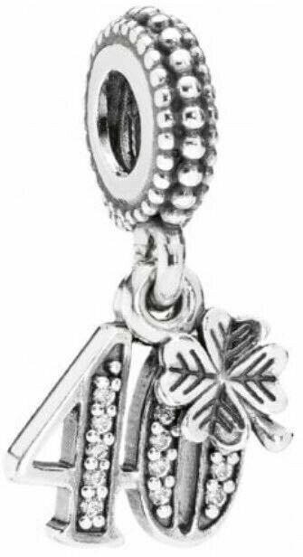Pandora 791288cz 40th Birthday Love Heart Pendant Charm S For Sale Online Ebay