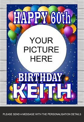 Happy Birthday Poster Personalised Name 18th 21st 30th 50th 60th Tp162 Ebay
