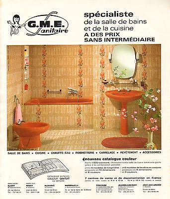 Publicite Advertising 1978 G M E Sanitaire Cuisine Salle De Bain Carrelage Ebay