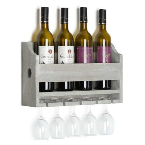 bar tools accessories 4 bottle rack and 5 glasses wine shelf holder wall mounted rack glass holder home bar accessories