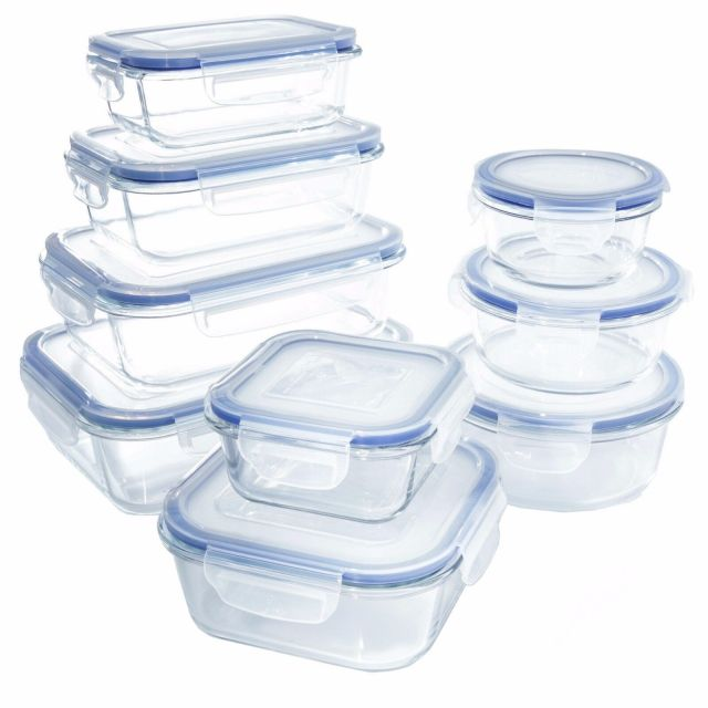 Glass Food Storage Container Set - BPA Free - Oven Microwave Freezer Safe - 18pc 2