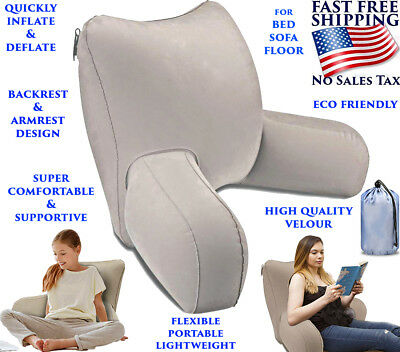 bed rest pillow reading inflatable cushion comfortable back arm support relax 684758000491 ebay