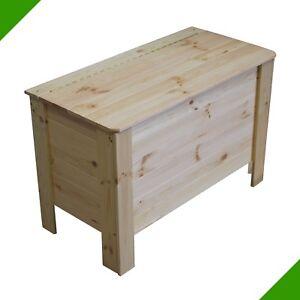 Holztruhe Holzkiste Wäschetruhe Truhe Kiste mit Deckel Spielkiste Spielzeugkiste