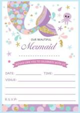 mermaid birthday invitations 20 fill