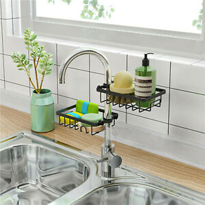 details about 2pc stainless steel sink hanging storage rack kitchen faucet shelf rack