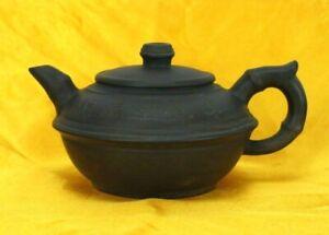 Gù jǐng zhōu Signed Zisha Teapot Purple Clay Chinese Yixing Handmade Decal