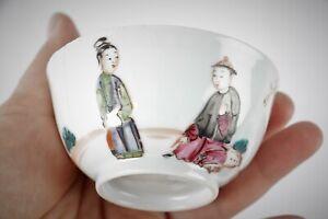 ANTIQUE CHINESE 18TH CENTURY TEA BOWL YONGZHENG PERIOD QING RARE AND ELEGANT