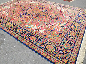 Superb rug 10 x 14 lovely Heriz by Karastan carpet beautiful gently     Image is loading Superb rug 10 x 14 lovely Heriz by