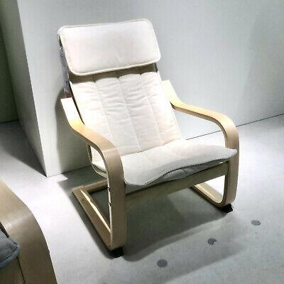 ikea poang siege enfants birkenfurnier chaise fauteuil kinderzimmersessel neuf ebay