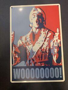 details about ric flair wooo tin sign wwe wwf poster wcw ljn hasbro nature boy wrestlemania