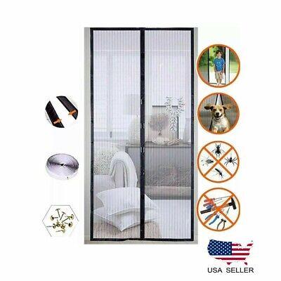 magnetic screen door net anti mosquito mesh hands free bug curtain patio usa ebay