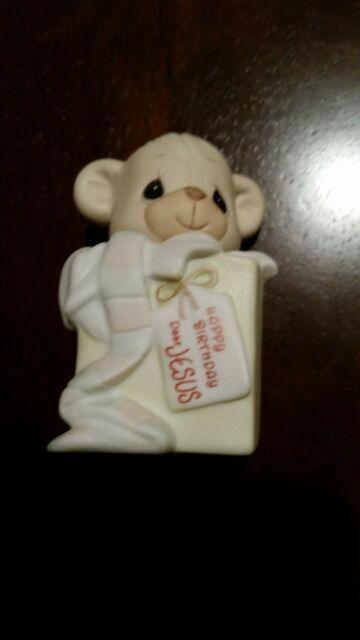 Precious Moments Figurine Happy Birthday Dear Jesus 524875 1990 For Sale Online Ebay