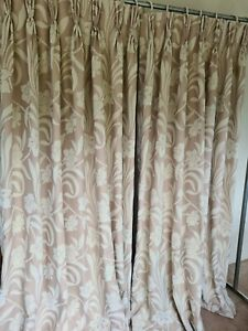 details about extra long bay window linedtriple pleat made to measure curtains 82 inch drop