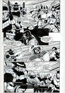 ROBOCOP MC #2 ORIGINAL COMIC BOOK ART PAGE DARK HORSE COMICS ORIG ARTWORK 1993