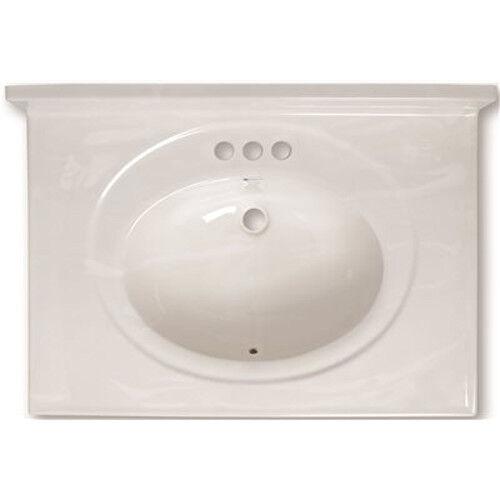 national brand alternative 112002 vanity top cultured marble white swirl 31 inch x 22 inch