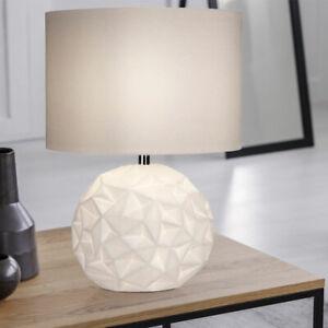 details sur lampe de chevet lampe salon chambre eclairage lampe design ceramique blanc neuf