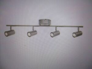 details about hampton bay 4 light brushed nickel dimmable led track lighting kit 1001 715 177