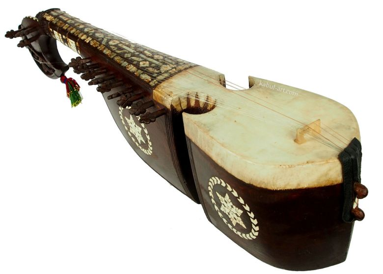 antique traditional folk musical instrument afghanistan rubab rabab