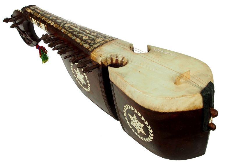 antique traditional folk musical instrument afghanistan rubab rabab