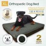 Big Paws Thick Extra Large Memory Foam Dog Bed Orthopedic Pet Beds Waterproof For Sale Online Ebay