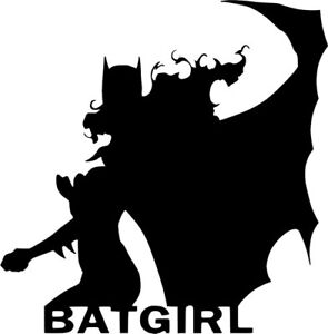 Vinyl Decal Sticker Batman Batgirl Silhouette DC Comics