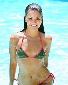 Image Is Loading Paula Garces 8x10 Sexy Micro Bikini All Wet