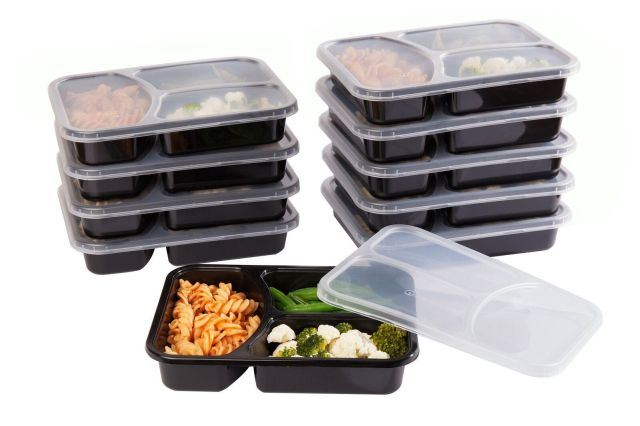 SET of 10 Reusable-Easy To Clean Lunch Kit Food Storage Containers for Adults 2