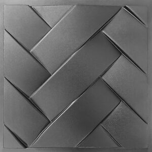 Cover 3D Tile Panels Mold Plaster Wall Stone Wall Art Decor ABS Plastic Form