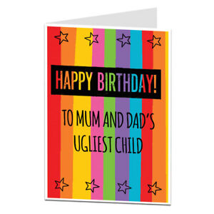 Brother Sister Birthday Card Funny Rude For Older Little Perfect For 21st 30th Ebay