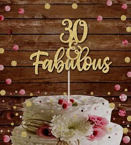 30 And Fabulous Glitter Cake Topper 30th Birthday Cake Decoration 40th 50 60th Ebay