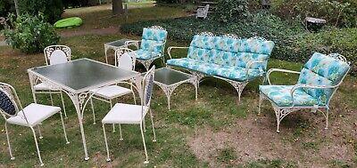 vintage wrought iron patio lawn furniture set c 1950 60s ebay