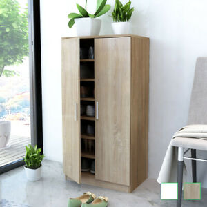 details sur meuble a chaussures 7 etageres chene blanc range chaussures armoire chaussures