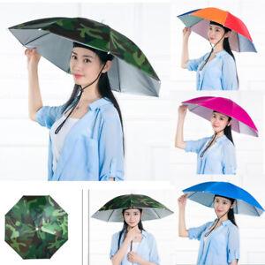 Sun Umbrella Hat Outdoor Hot Foldable Golf Fishing Camping Headwear Head Cap Us Ebay