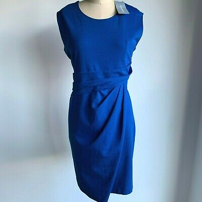 COUNTRY ROAD : SZ XL TRENERY ponte tuck front dress vivid blue 16 [CR LOVE]