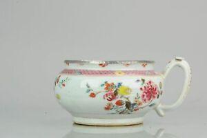 Antique Yongzheng Qianlong Period Famille Rose Cachepot Chinese China Po...
