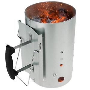 details about large outdoor charcoal bbq chimney starter quick start lighter burner coal fuel