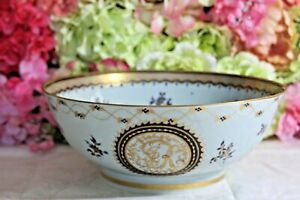 Fine, Chinese Export Cobalt and Gold Punch Bowl