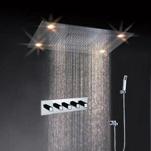 details about high pressure water saving best 31 large rain shower faucet led shower heads