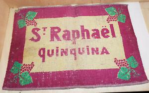 details sur ancien tapis jeux de cartes st raphael quinquina bistrot objet publicitaire