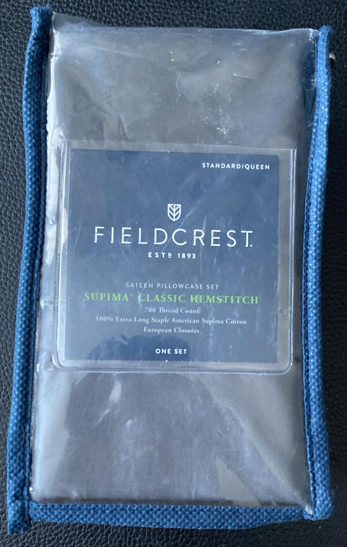 fieldcrest 700 tc standard queen supima classic hemstitch 2 pillowcases s2