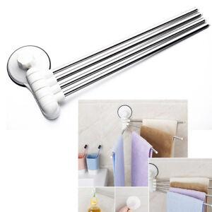 details sur design avec ventouse 4 tige rotatif porte serviette accessoires de salle de bain