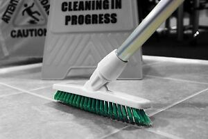 details about grout cleaning angled brush long handled stiff bristle deck floor tile scrub gre