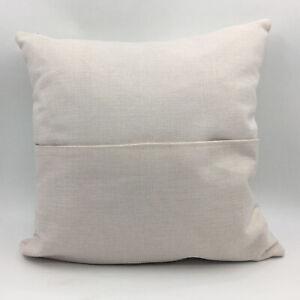 details about 10pcs linen sublimation blanks pillow case front pocket cushion cover home decor