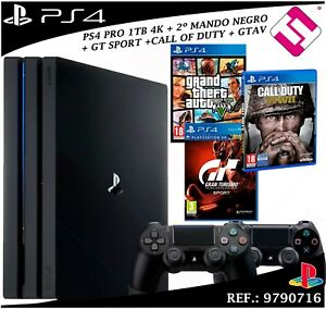 Ps4 Playstation 4 Pro 1tb 2 Controls 3 Games Gtav Gtsport Call Of Duty Ww2 Offer 711719403470 Ebay