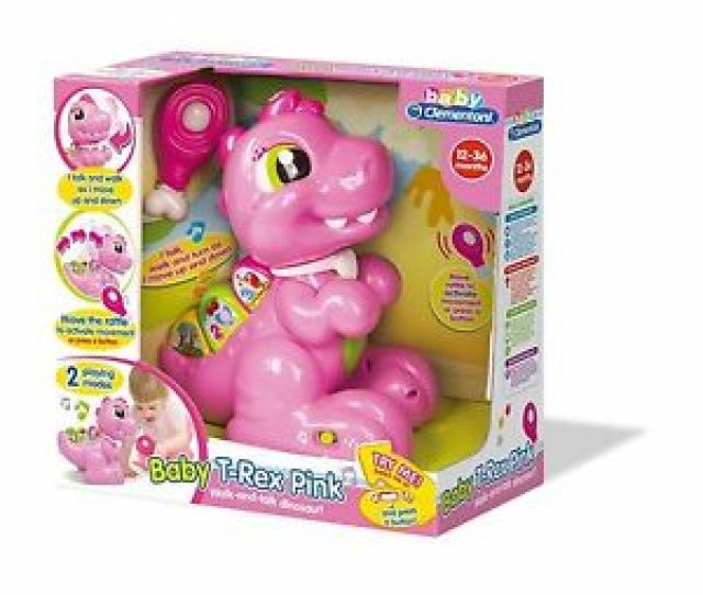 Image Is Loading T Rex Girls Baby Toy Pink Dino Dinosaur