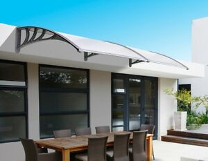 details about diy outdoor awning polycarbonate cover patio deck canopy rain sun shade