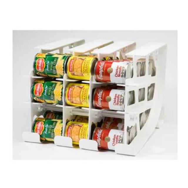 FIFO CAN TRACKER-FOOD STORAGE CAN ROTATOR-PANTRY SHELF ORGANIZER FOOD ROTATION 2