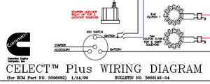 Wiring Diagram Cummins CELECT Plus (for ECM Part No