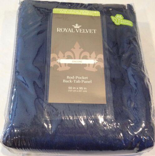home furniture diy jc penney royal velvet 50x96 indigo navy blue drape curtain rod pocket back tab curtains blinds
