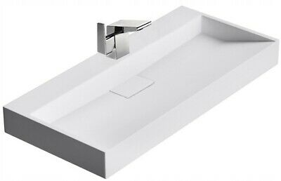 vasque goya en conglomerat 50 60 70 100cm lavabo blanc white moderne carre rea ebay